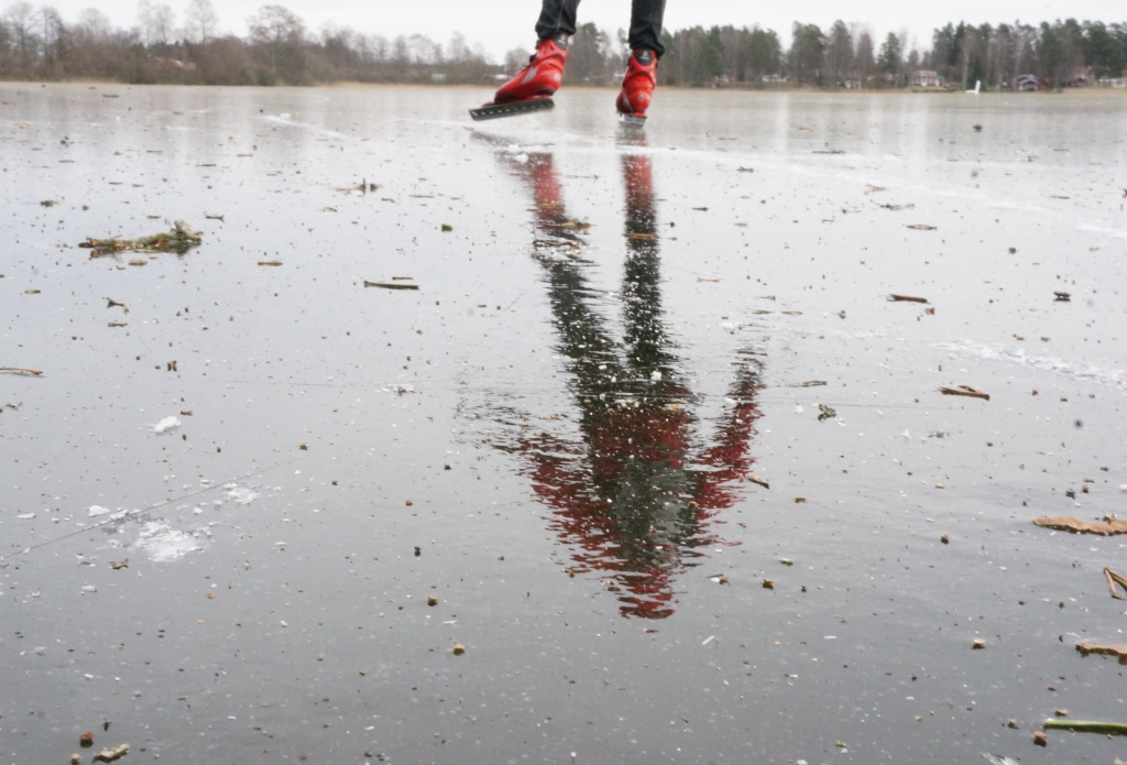 Isen var härligt blank